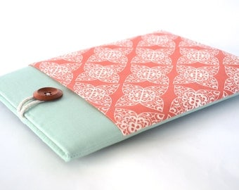 iPad Air Case, iPad Air Sleeve iPad Case Cover with Pocket and Padded for any iPad - Coral Damask