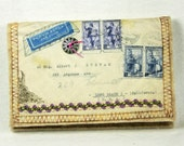 Embellished Vintage Envelope Needle Case 51I2LB