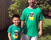 Adult and Kid T-Shirt Combo – Let's Cook! – Funny TV Character – Geeky Gift – Kelly Green Mens and Toddler Shirts - Great Dad Gift