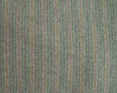 Fat Eighth or Fat Quarter- Half Yard Wool Fabric - Blue - Grey - Green - Stripes Felted Wool Fabric- 100% Wool