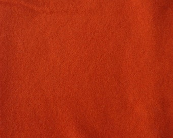 Red Orange Hand Dyed Felted Wool Fabric - Hand Dyed - - 100% Wool