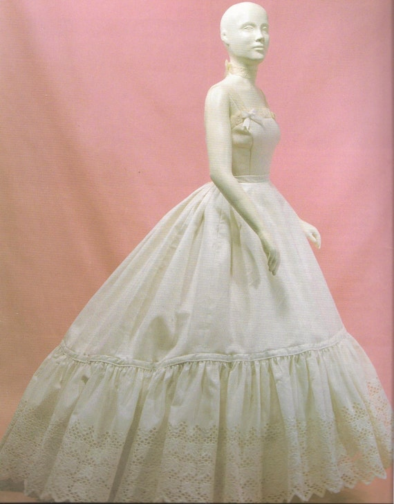 Victorian Petticoat for Elliptical Cage Crinoline made to your Measurements over Elliptical Cage Crinoline