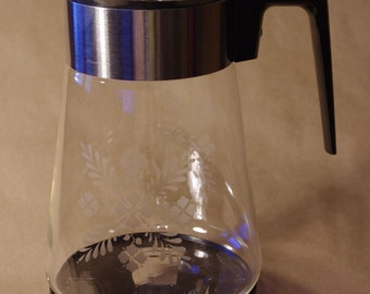 Vintage Pyrex Coffee Carafe with Warmer