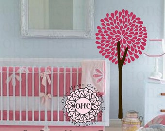 Tree Wall Decal for Baby Nursery Kids Room or Home - Baby Nursery Girl or Boy Shabby Chic Style Vinyl Wall Decal TR0002