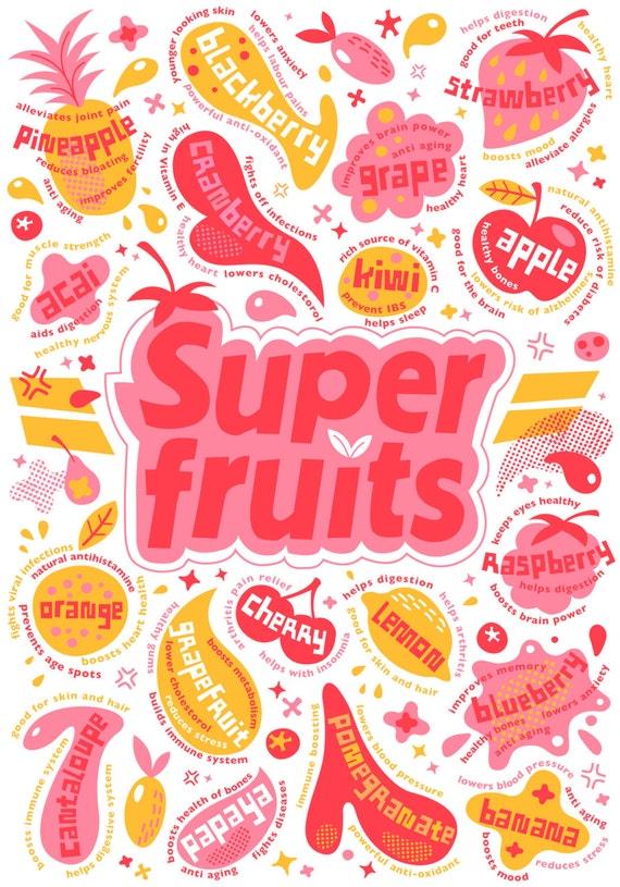Super - Fruits - Silkscreen Print