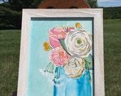spring flora specimen#2, framed