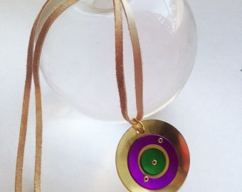 Brass and Aluminum Circles Pendant