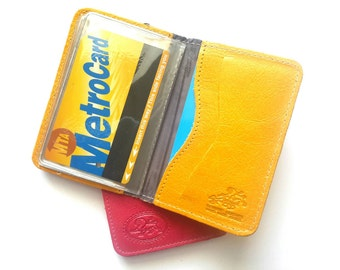 Credit Card Wallet, Credit Card Holder, Metro Card Case, Gift For Him, Gift For Her - in BIG YELLOW TAXI (No.1414)