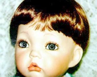 Human Hair Doll Wig for Toddler Type Doll size 7-8
