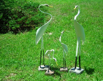 Egret Family of 4 - PVC