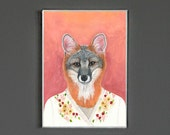Art Print - Grey Fox - Signed by Artist - 8x10 // 16x20 // 22x28