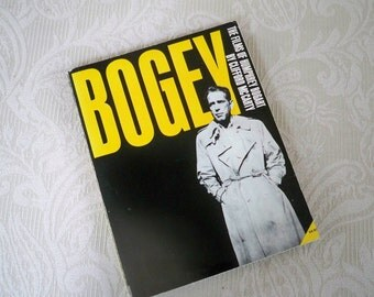 """Vintage Book """"Bogey"""" The Films of Humphrey Bogart 1965 Film Buff History"""