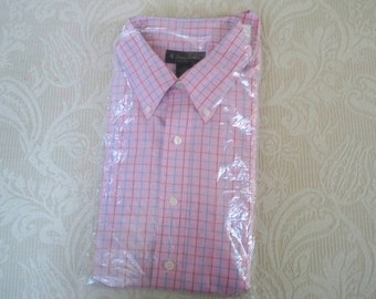 Vintage Men's Clothing Short Sleeve Shirt Brooks Brothers Sixe XL