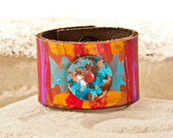 Cuffs Bracelets - Bright Colors Colorful Jewelry - 2017 Creative Leather Art