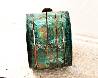 Leather Cuff - Sale Stocking Stuffers - New Years 2017 - Christmas December Holiday Ideas For Gifts