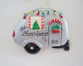 Personalized Airstream Christmas Ornament / RV Ornament / Retirement  / Recreational / Trailer / Personalized