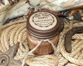 Saddled Up and Spurred (tobacco  whiskey) - 8 ozWestern Texas Cowboy Mason Jar Candle