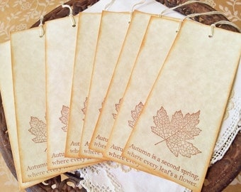 Wedding Wish Tree Tags Falling Leaves Set of 20 LAST SET