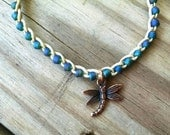 Dragonfly Charm Anklet Size and Color Choice