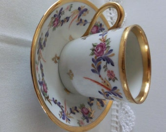 Demi cup Mocca Espresso cup Made in France  Handpainted