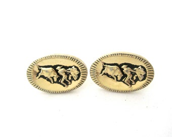 Vintage Matador Cufflinks, Gold tone Cufflinks