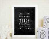 Teachers who love to teach wall art print