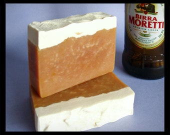 Summer Ale Beer Soap, Moretti Beer soap, Oatmeal beer soap with Kokum Butter & Shea Butter, Gift for Husband, Father, summer ale with lime