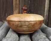 Maple Wood Box with Lid - Hand Turned Lidded Wooden Box - Maple Wood Wooden Box with Lid - Great gift idea