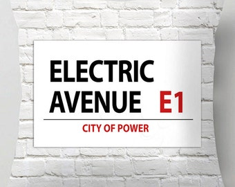 Electric Avenue street sign cushion / pillow