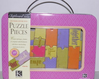 K and Company Chipboard Puzzle Pieces