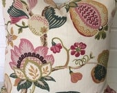 Kravet floral set of two 24 inch pillow covers throw pillows designer pillow