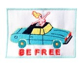 Be free iron on patch by Jess Warby