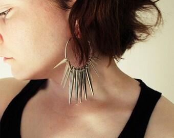 Icicle hoop earrings - 50 mm