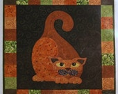 Garden Patch Cats Pattern Gourdo Gato Quilt Block Wall Hanging Sewing Pattern (Box B-5)