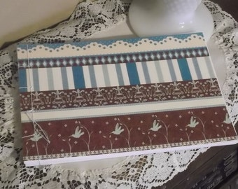 Humming Bird Guest Book Album Blue and Brown