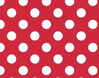 Red Medium Dots Fabric by Riley Blake Designs - Red Dots - by the Yard - 1 Yard