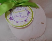Custom Catholic Favor Tags // Baptism Tags // First Communion // For Cake Pops // Cookies // FLOWERS - 1.5 or 2 inch