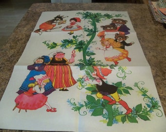 once upon a time fairy tales  vintage  wrapping paper