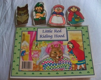 little red riding hood finger puppets finger puppets vintage etsy uk 7815