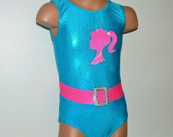 Gymnastics Dance Leotard Barbie Workout Leotard. Toddlers Girls Gymnastic Leotard. Dancewear. Barbie Performance Leotard. Size 2T - Girls 10