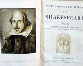 Vintage Book, The Complete Works of Shakespeare, 1936