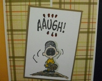 Charlie Brown Inspired AAUGH Card