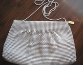 LYRELLA PURSE - Metal Links and Snake Shoulder Strap - FIFTIES Vintage - Grey Silk Lining - Excellent Condition Clean Unworn