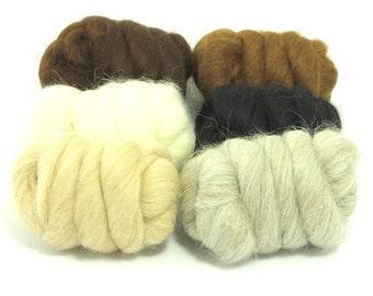 Heidifeathers Alpaca Tops Mixed Pack,  or Single Alpaca Wool Colours