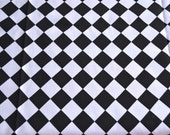 Black and White Check Fabric - Bother Sister Design Studio - Woven Cotton Canvas 45 x 38