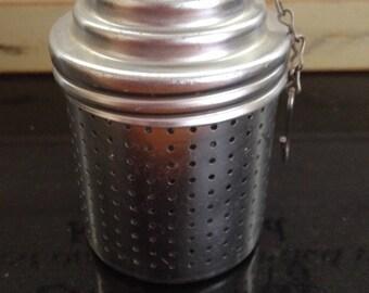 Vintage Tea Strainer with Measuring Lid