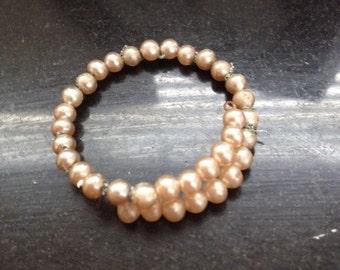 Faux Pearl Wrap Bracelet