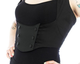 bustier underbust harness vest steampunk dieselpunk cyberpunk futuristic dark style MENAGERIE VEST by FUTURSTATE