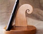 Tablet Stand in Cherry Wood