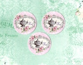 Stickers, Teapot Stickers, Roses & Teapot, Shabby Tea, Sticker Seals